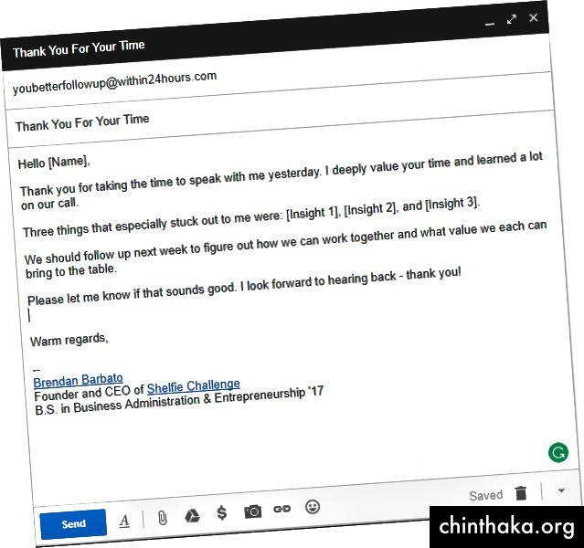 Beispiel für eine Folge-E-Mail