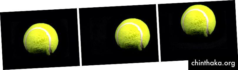 Aceeași minge de tenis, dar tradusă.