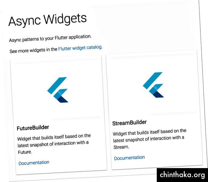 https://flutter.io/widgets/async/