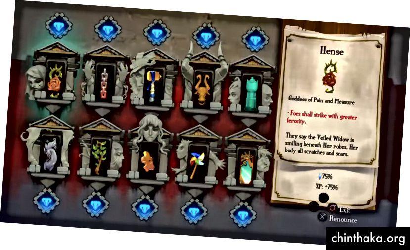 Bastion's Shrine (zorluk seçme ekranı).