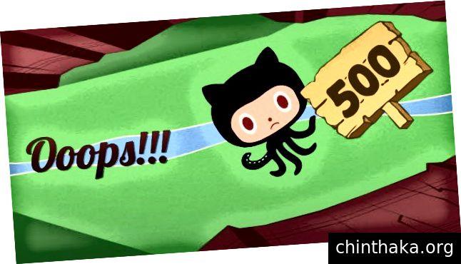 GitHub'ın harika 500 hata sayfası