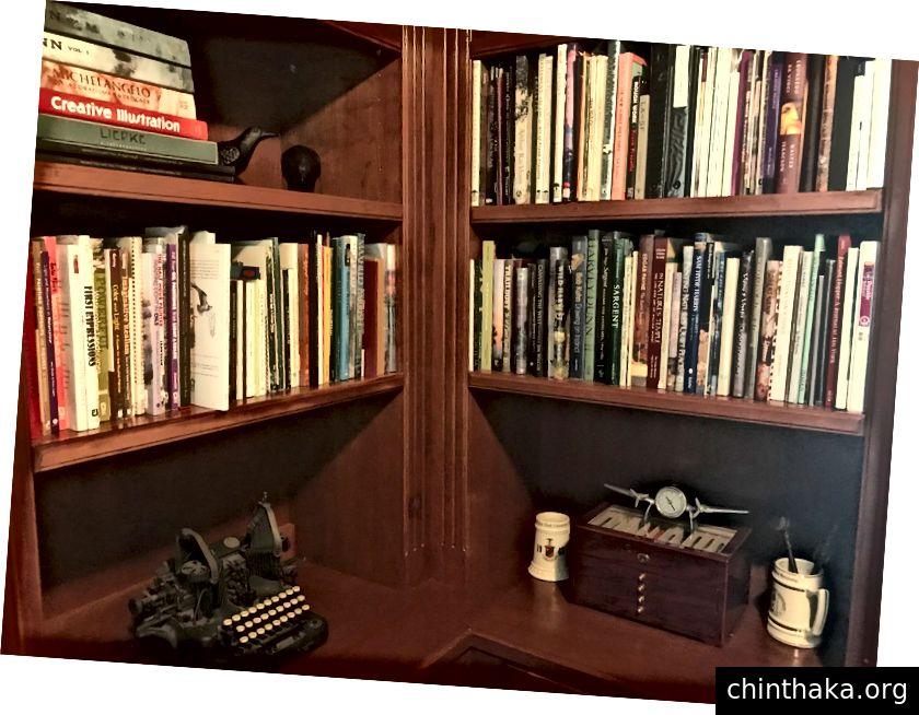 Einige der inspirierenden Kunstbücher in meinem Studio / Büro.