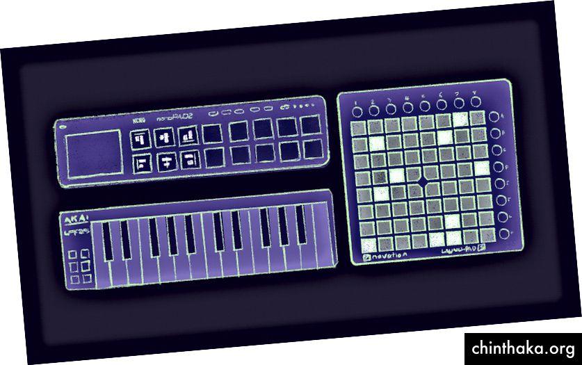 Enhver MIDI-enhed kan bruges til at oprette genveje i Sketch