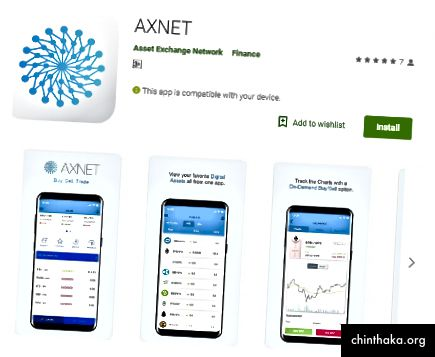 Axnet na PlayStore