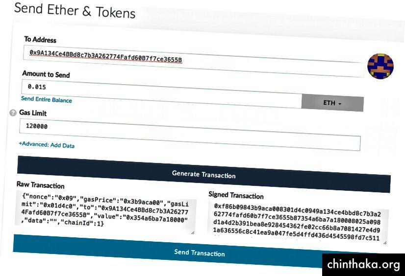 ملاحظة: العنوان المستخدم في لقطة الشاشة هذه ليس عنوان بيع الرمز المميز لـ Blockport.