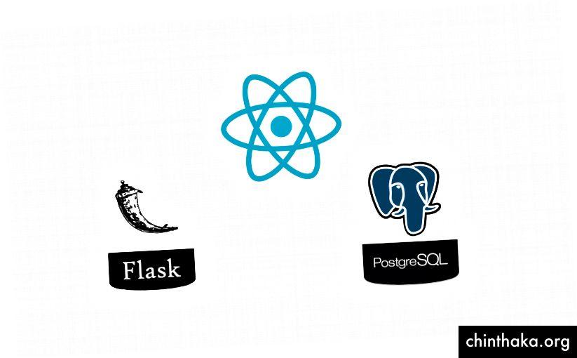 React, flacon Python și Postgres