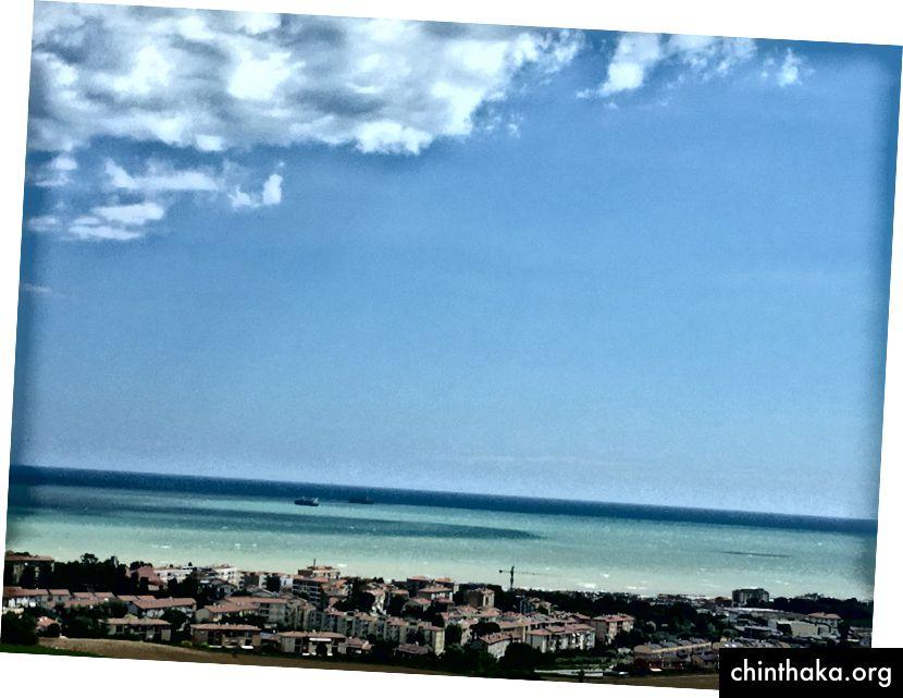 Strande nær Ancona, Italien