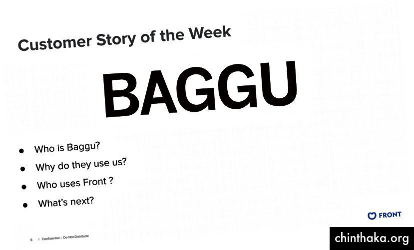 تسليط الضوء على الجبهة العملاء Baggu