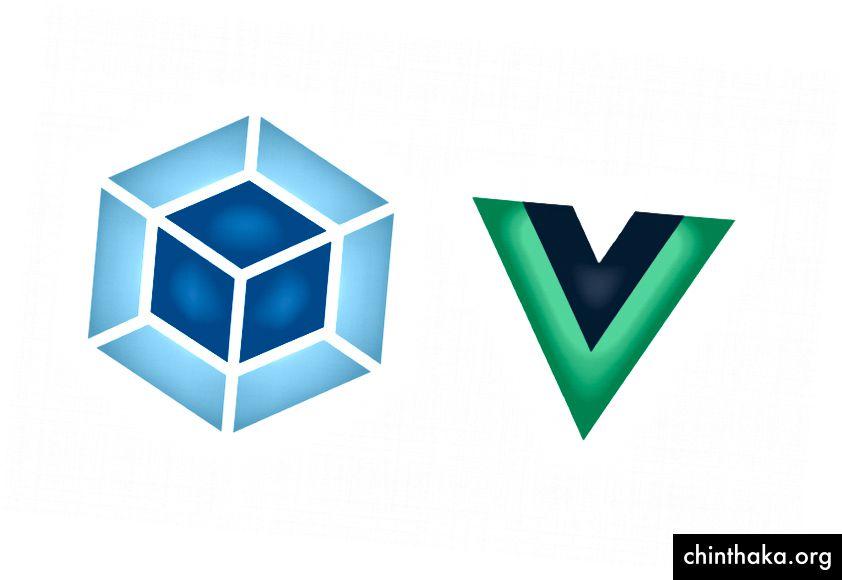 Webpack & Vue Logos