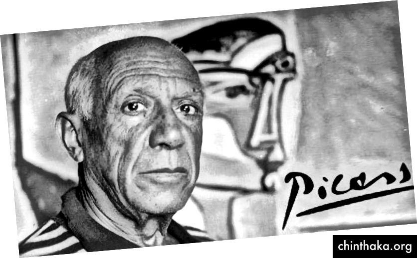 (بابلو بيكاسو 25 أكتوبر 1881-18 أبريل 1973 يعتبر أحد الفنانين الأكثر نفوذا في القرن العشرين)
