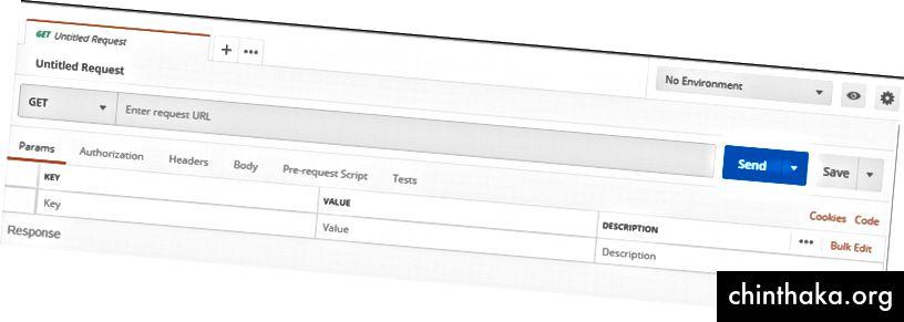 Zaslon koji prikazuje opcije za testiranje krajnjih točaka
