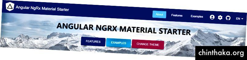 الزاوي NgRx Material Starter مع المدمج في أفضل الممارسات ، theming وأكثر من ذلك بكثير!