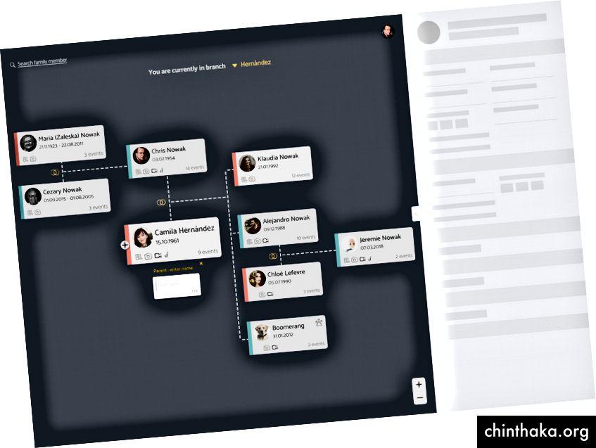 UI-Skelett in der FAMORY-App