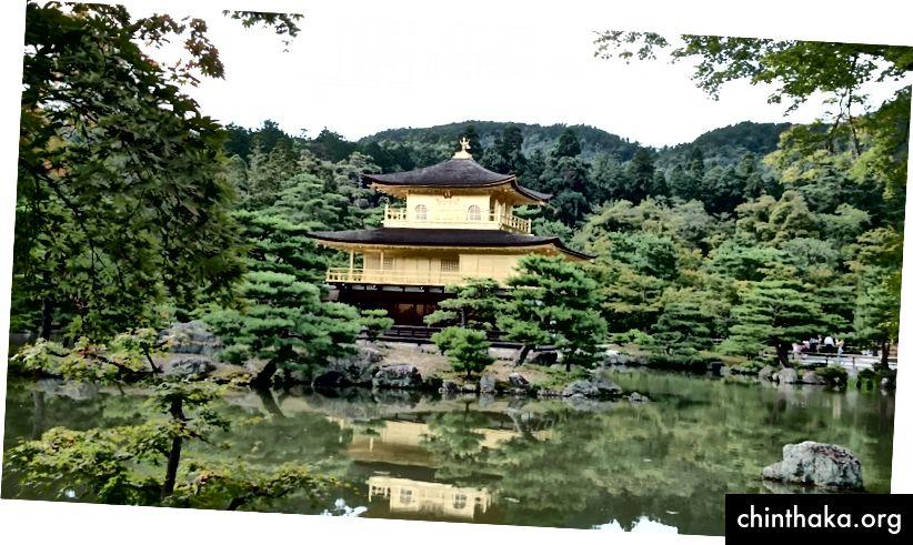 Golden Pavilion Kinkaku-ji, Kyoto, Japan (forfatterfoto)