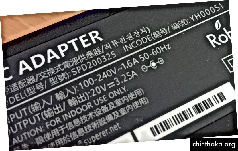 كبل الكمبيوتر المحمول الذي يمكنني استخدامه واستخدامه في أي مكان. فقط يحتاج إلى محول قابس ، وليس محول.