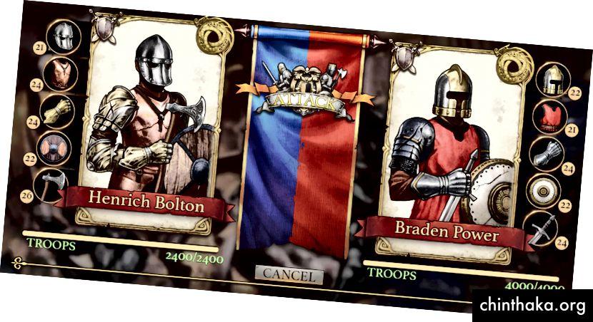 La pantalla previa a la batalla mostrará las estadísticas de tu enemigo.