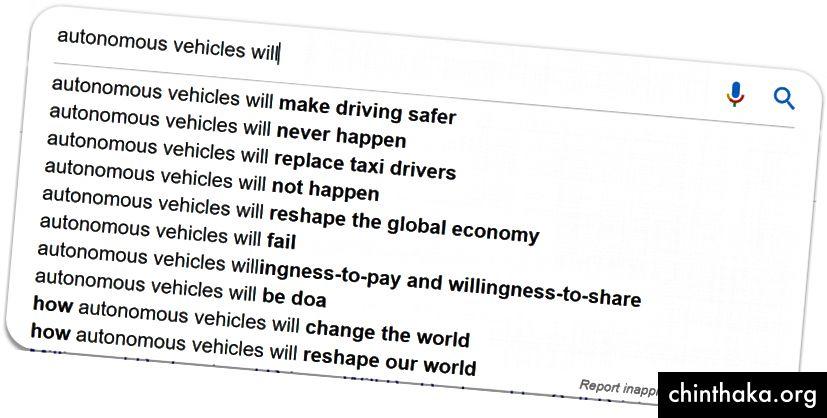 Google Autocomplete zeigt die polarisierten Ansichten über die Zukunft von AVs