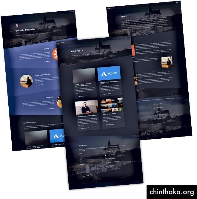 هيكل الموقع جنبا إلى جنب مع القالب المختار