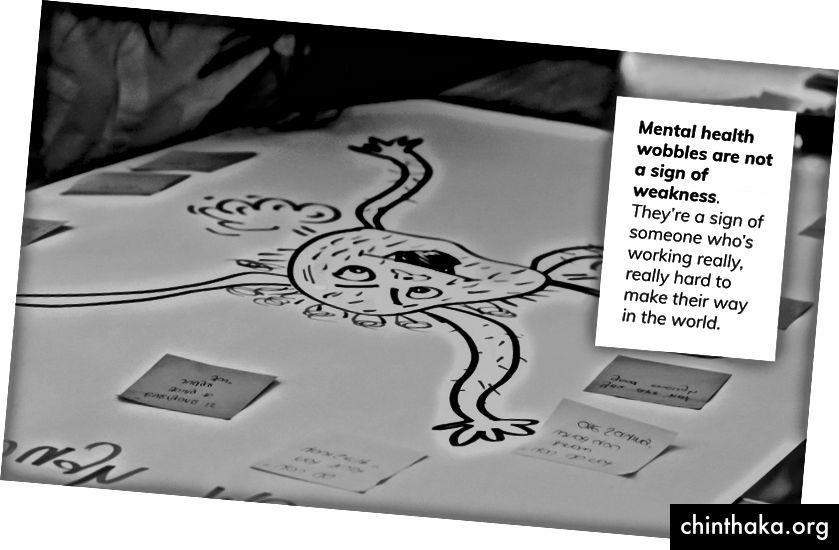 Auf dem Leadership-Workshop haben wir unsere Ängste personifiziert und gezeichnet und dann Strategien entwickelt, wie wir sie überwinden können.