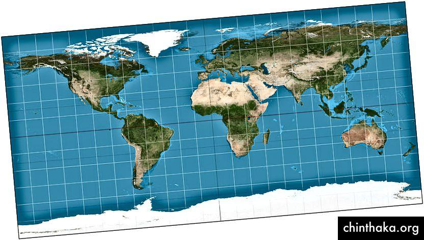 Vikipedi aracılığıyla Dünya'nın Eşitgen haritası