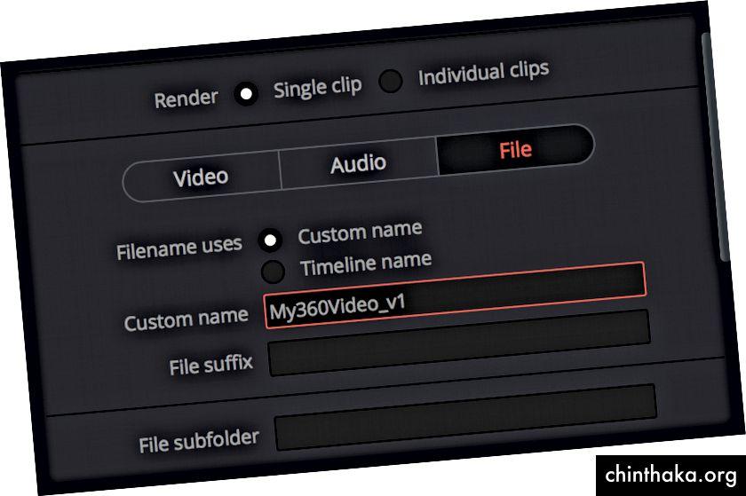 """""""360 Videonuzu DaVinci Resolve 14'ten Dışa Aktarın"""" görsel yardımları"""