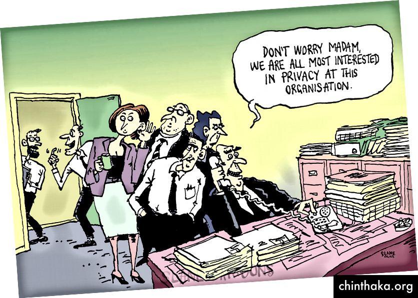 Cartoon von Chris Slane für Slane Cartoons