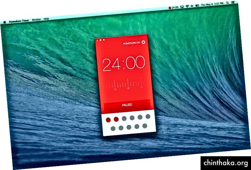 Pomodoro-app på Mac
