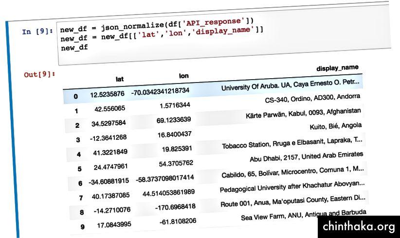 Normaliser JSON for at få ny DataFrame