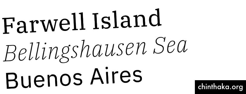IBM Plex Serif, Extralight Italic und Sans Regular