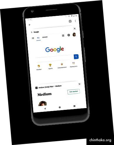 Chrome für mobile Tab Switching-Oberfläche