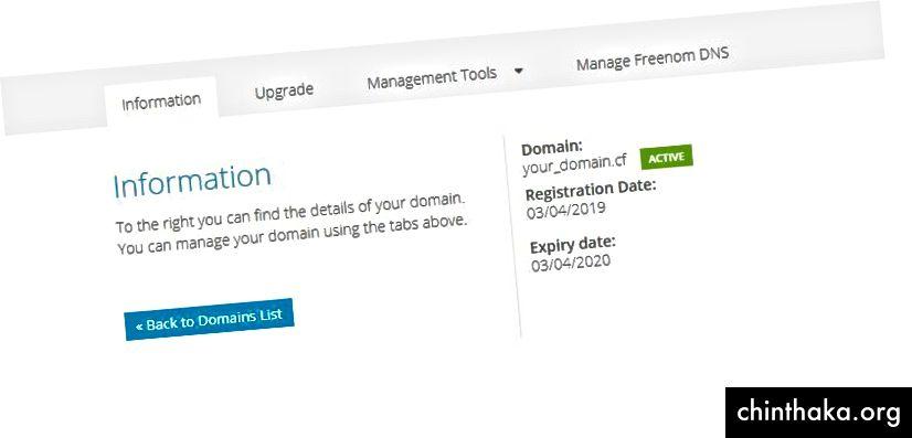 Freenom DNS verwalten