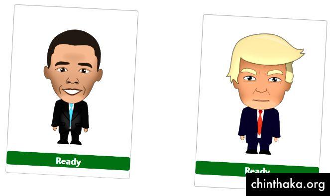 Barack Obama og Donald Trump klar til at producere en klon