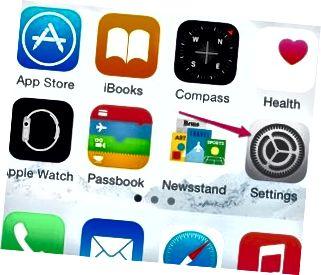 Die Einstellungen-App enthält die Steuerelemente für die Anzeigehelligkeit.