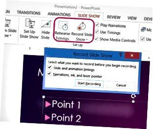 Le registrazioni possono anche includere il puntatore laser virtuale.