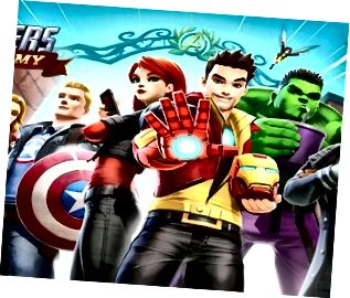 Taispeánann Acadamh Marvel Avengers na laochra Marvel is fearr mar dhéagóirí.