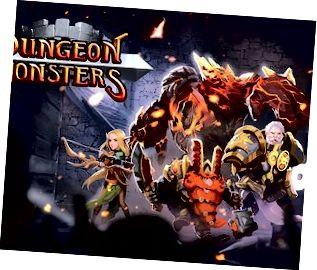 I Dungeon Monsters is féidir leat rogha a dhéanamh idir carachtair éagsúla.