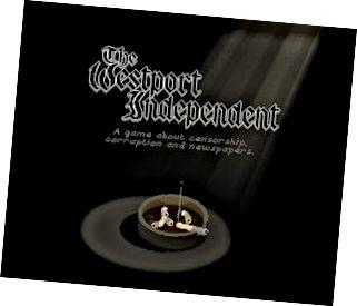 In The Westport Independent, imríonn tú eagarthóir nuachtáin i sochaí totalitarian.