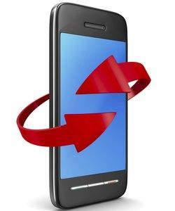 Telefon auf weißem Hintergrund. Isoliertes 3D-Bild