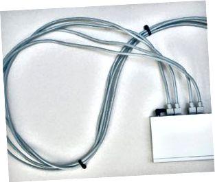 Cables conectados al módem