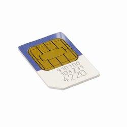 Närbild på ett simmkort för mobiltelefon
