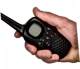 Radio portatile UHF isolata
