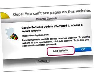 Fügen Sie Websites hinzu, wenn Sie dazu aufgefordert werden.