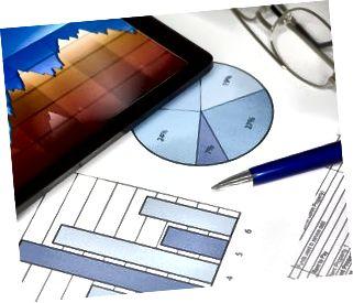 Tablettdator med pennsiffror och diagram