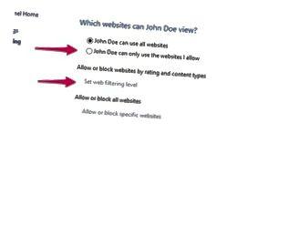 Web Filtering Control Panel.
