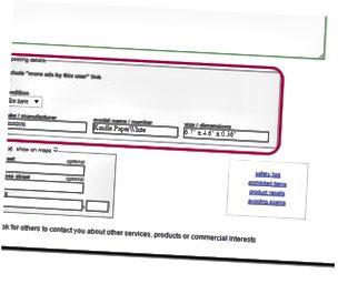 Aktivieren Sie das Kontrollkästchen neben Einschließen ..., um Links zu Ihren anderen Craigslist-Beiträgen zu Ihrer Anzeige zu schalten.