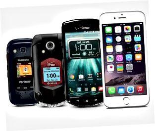 Larawan ng Push-to-Talk na may kakayahang Verizon Wireless cell phone.