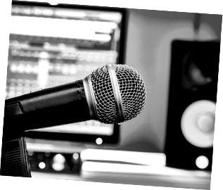 mikrofon i inspelningsstudio