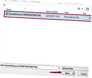 Excel markerar vissa raderade filer som osparade