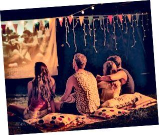 Filmaften med venner