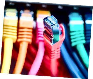 Närbild av kabeln